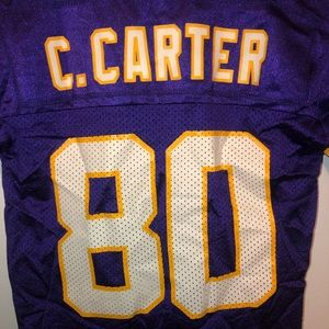 Youth Chris Carter MN Vikings #80 jersey